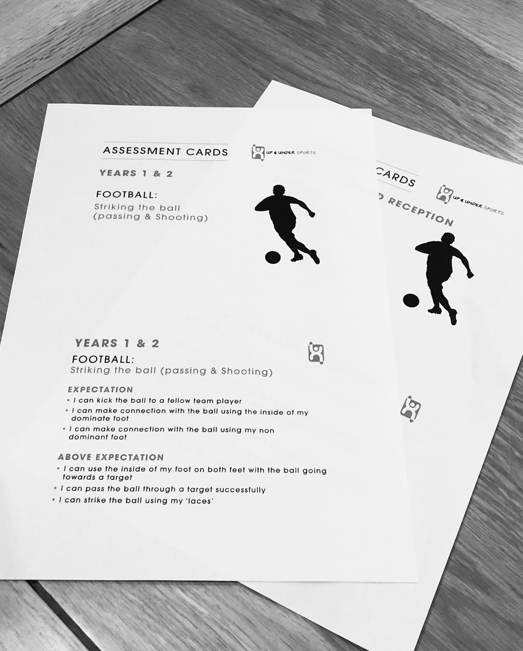 New to Up & Under Sports – Assessment Cards