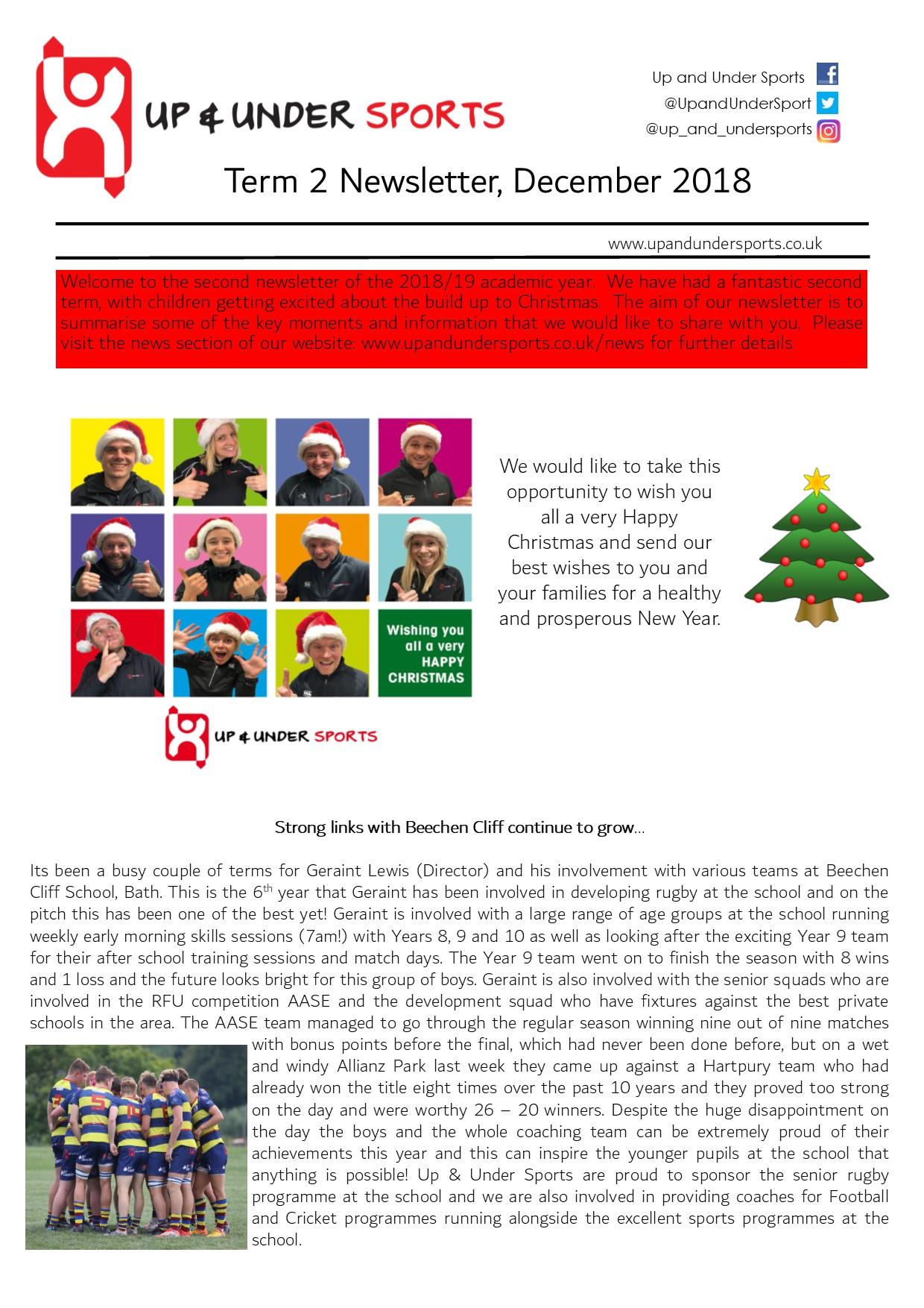 Term 2 Newsletter, December 2018